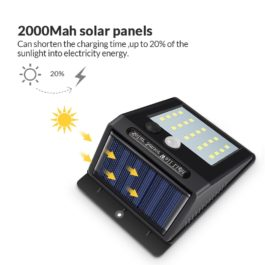 Outdoor Solar LED Floodlight with motion detection & security lighting - solar sensor wall light 1