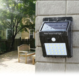Outdoor Solar LED Floodlight with motion detection & security lighting - solar sensor wall light