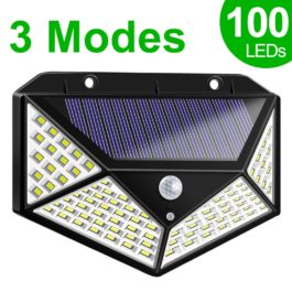 LED Solar Light Outdoor Solar Lamp with PIR Motion Sensor Solar Powered Waterproof Wall Light