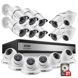 2MP 16CH Video Surveillance Security Camera System