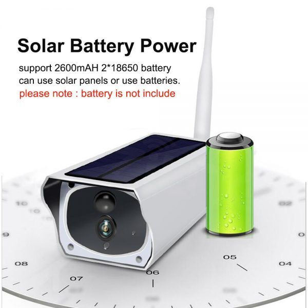 Solar and battery powered outdoor camera - 1080p with wifi connection 3