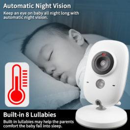 Baby Monitor Security Camera with Night Vision & Temperature Monitoring 1