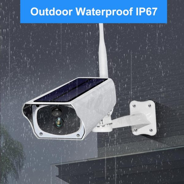 Solar and battery powered outdoor camera - 1080p with wifi connection 2