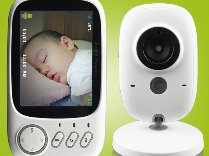 Baby Monitor Security Camera with Night Vision & Temperature Monitoring