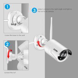 ZOSI 1TB HDD 8CH CCTV System Wireless 1080P Powerful Wireless NVR WIFI IP Camera CCTV Home Security System Surveillance Kits 1