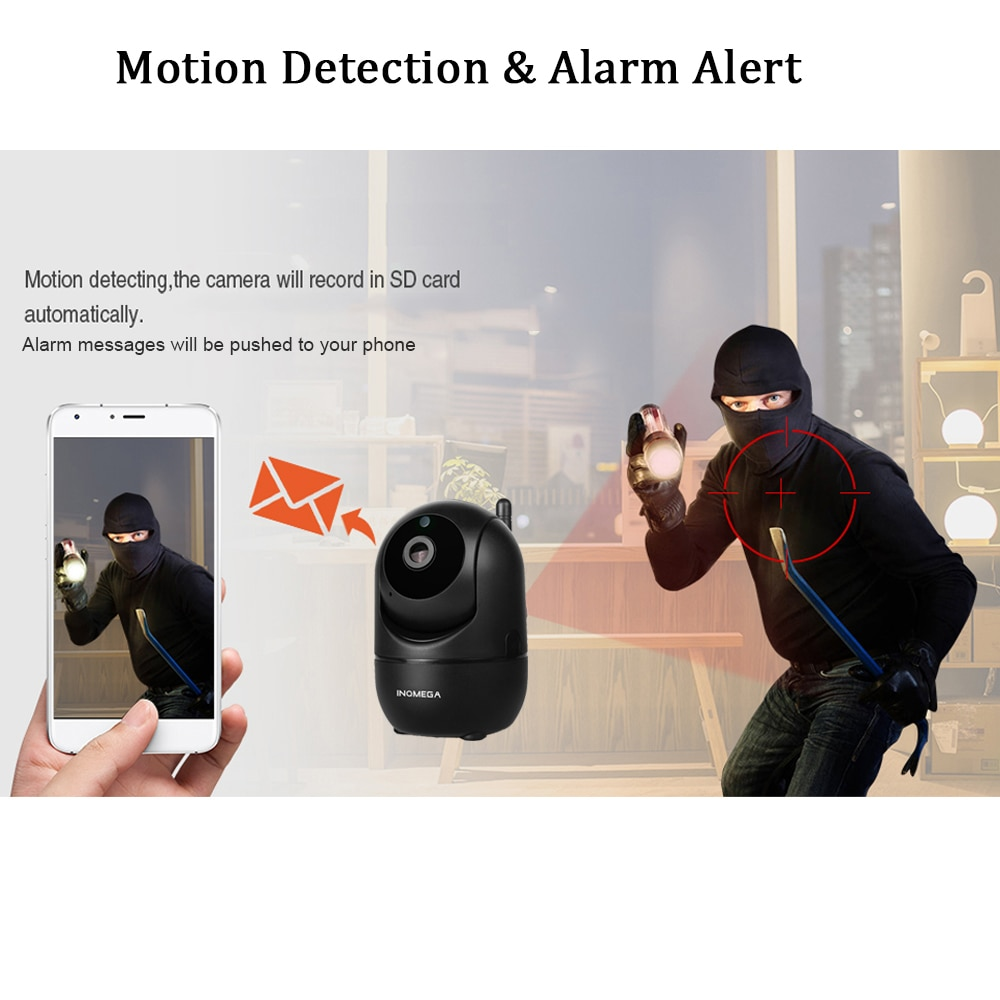 PTZ Security Camera & Baby Monitor - Motion Tracking and 2 way audio communication 4