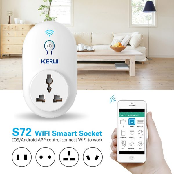 KERUI Smart Power Point Adapter - Wifi app controlled