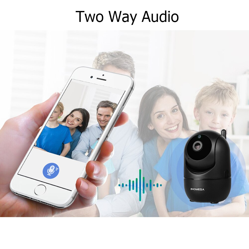 PTZ Security Camera & Baby Monitor - Motion Tracking and 2 way audio communication 2