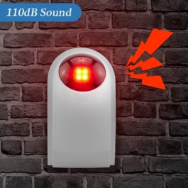 KERUI Indoor Outdoor  Wireless Flashing Siren Strobe