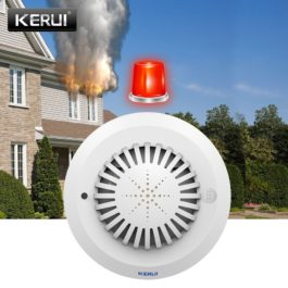 KERUI SD03 High Sensitivity Voice Prompts Smoke Fire Detector/Sensor for Kerui Home Alarm System
