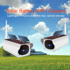 Solar and battery powered outdoor camera - 1080p with wifi connection 1
