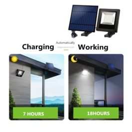 Ousam LED Solar Light With Panel 3Meters Cable Garden Floodlight Waterproof Wall Solar Lamp For Outdoor Lawn Lighting 1