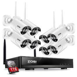 ZOSI 1TB HDD 8CH CCTV System Wireless 1080P Powerful Wireless NVR WIFI IP Camera CCTV Home Security System Surveillance Kits