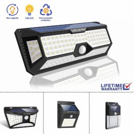 Outdoor Solar LED Floodlight with motion detection & security lighting - LECLSTAR