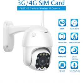 3G 4G SIM Card IP Camera 1080P HD Camera WIFI PTZ Dome Camera Outdoor 2 Way Audio Security CCTV P2P IR Night Vision 30M 1