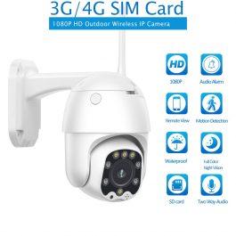 3G 4G SIM Card IP Camera 1080P HD Camera WIFI PTZ Dome Camera Outdoor 2 Way Audio Security CCTV P2P IR Night Vision 30M 1