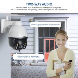 INQMEGA Cloud 1080P Outdoor PTZ IP Camera WIFI Speed Dome Auto Tracking Camera 5X optical zoom 2MP Onvif IR CCTV Security Camera 3