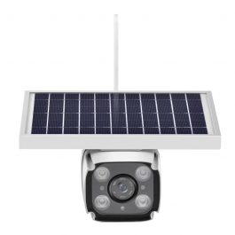 SmartYIBA 4G Solar Camera with 2-way Intercom 5.5w Solar Panel PIR Motion Detection Free Cloud Storage HD IP Camera Rainproof 1