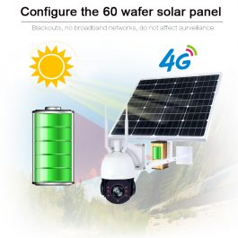 SmartYIBA 1080P Wireless Solar Security Camera with 4G Wifi Function - 2MP IP Solar Camera with 5X Optical Zoom 2