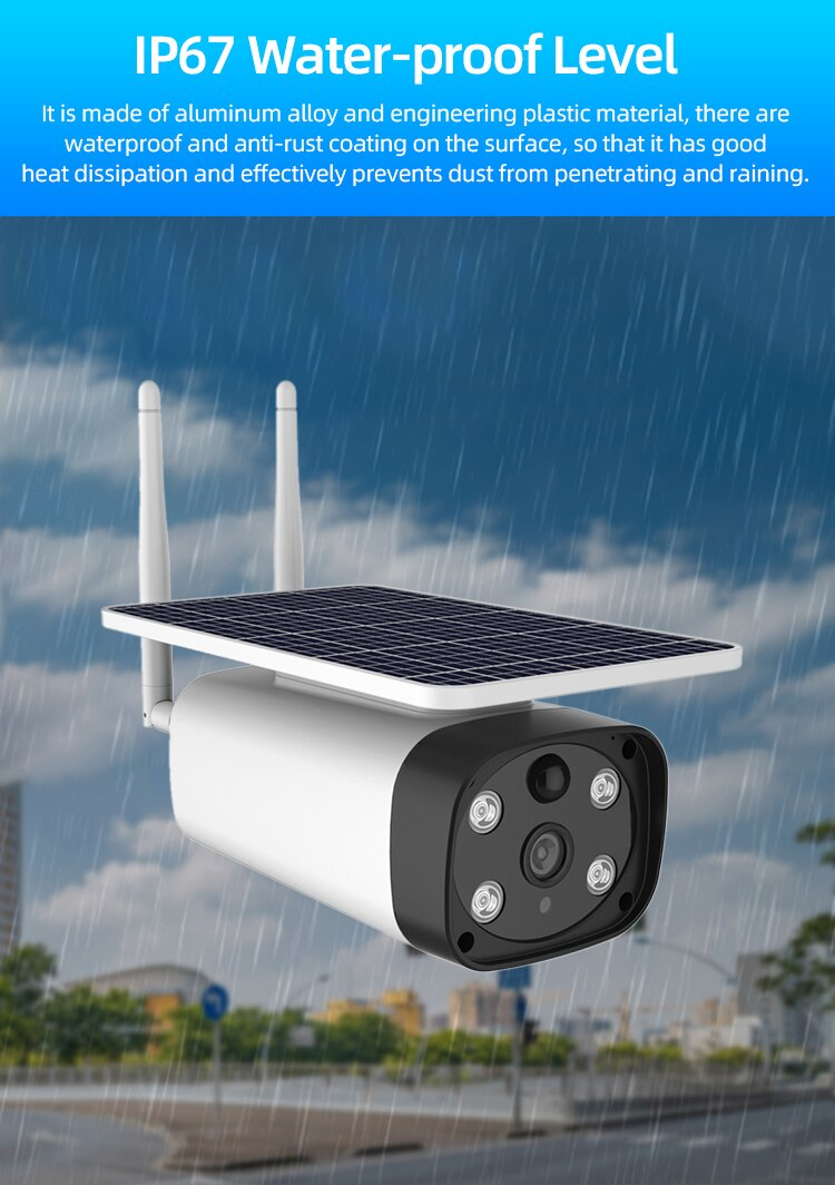 SmartYiBa 4G sim card supported Starlight Night Vision Solar IP Camera Solar Powered Cloud Storage Wire Free PIR Detection 6