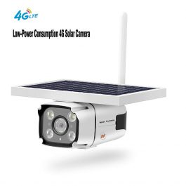 SmartYIBA 4G Solar Camera with 2-way Intercom 5.5w Solar Panel PIR Motion Detection Free Cloud Storage HD IP Camera Rainproof 2