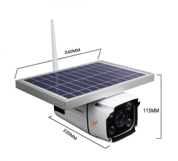 SmartYIBA 4G Solar Camera with 2-way Intercom 5.5w Solar Panel PIR Motion Detection Free Cloud Storage HD IP Camera Rainproof 3