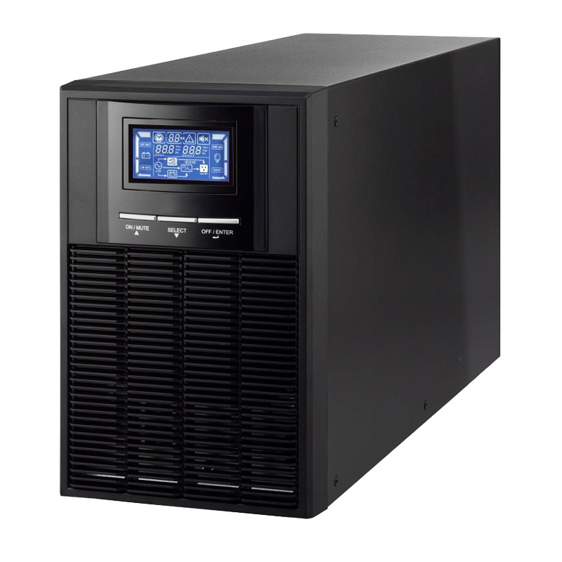The UPS-B1000-O is a smart online uninterruptible power supply with a max capacity of 1000VA / 900W. This UPS will protect your connected electronics from overloads