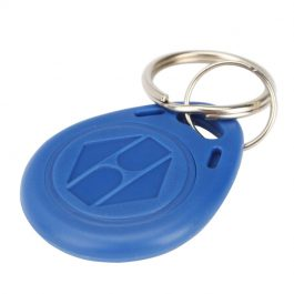 10 pack of thick 125KHz RFID proximity keyfobs with keyring for access control systems.