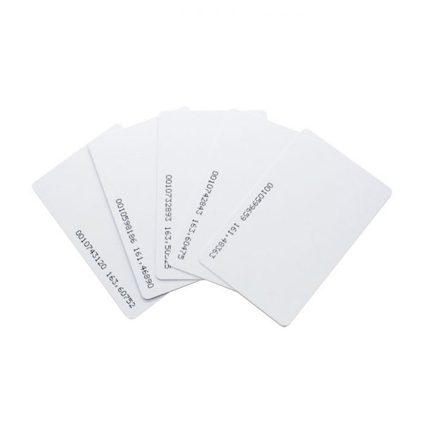 10 pack of thin 125KHz RFID proximity cards for access control systems.