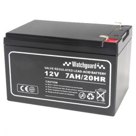 The D12V7A is a sealed lead acid battery with a rated capacity of 7Ah.