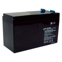 The D12V7 is a sealed lead acid battery with a rated capacity of 7Ah.