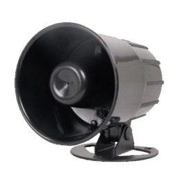 The S42ACDC is a hard-wired siren for home or vehicle alarm systems.