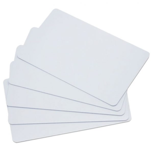 10 pack of thin 13.56MHz RFID (NFC) proximity cards for access control systems and intercoms.