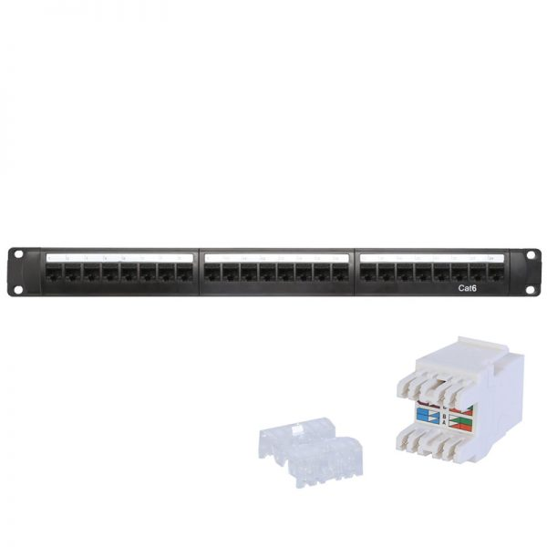 Professionally manage network cables in your data cabinet with the RJ45PATCH24CAT6 patch panel.