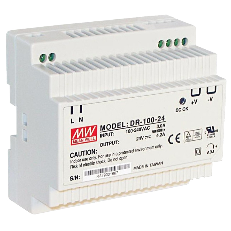 The PSDR24V4A is a 24VDC Class II DIN rail mount switching power supply