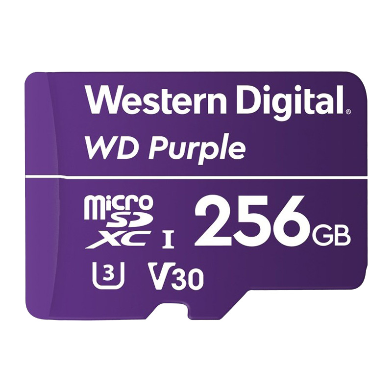 WDSD256GB is a surveillance grade MicroSD card with 256GB of storage. Record on-the-edge footage and save it directly onto MicroSD with any of our SD-compatible cameras.