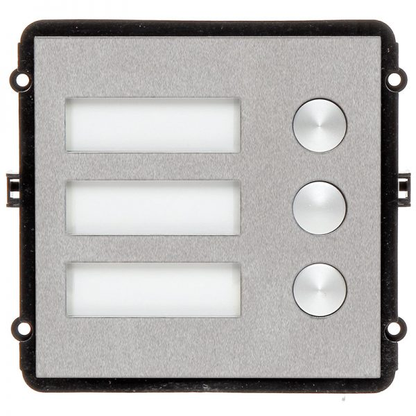 The INTIPVDSB is a 3 button IP door station module for the VIP Vision Multi-Tenant Intercom Series. This compact unit features a robust stainless steel front pane