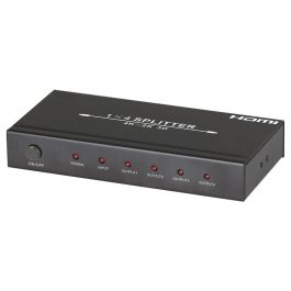 The HDMISPLIT4K distributes one HDMI source to four HDMI displays simultaneously. It is HDMI 1.4 compliant and has full support for 4K and 3D video. Its compact