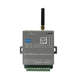 The Watchgurad WGRX4G is a 2 channel smart controller based on the GSM network. It can be used with a wide variety of remote control devices and access control systems