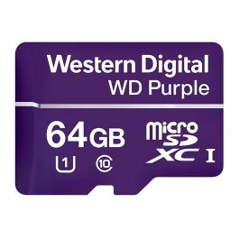 WDSD64GB is a surveillance grade MicroSD card with 64GB of storage. Record on-the-edge footage and save it directly onto MicroSD with any of our SD-compatible cameras.