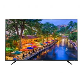 This Ultra HD Android TV has a 65-inch screen and an LED LCD display. Make your installations shine with native resolution support for 8.0MP surveillance cameras. This TV is perfect for remote view applications or as a demonstration display TV.