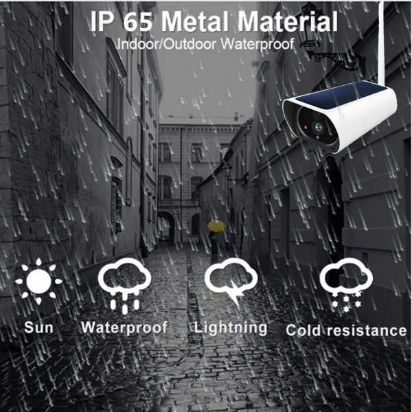 Solar & Battery Powered Security Camera 1080P - SIM Card 3G 4G GSM for remote sites with no power or internet 5