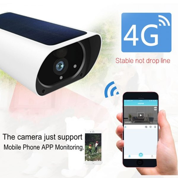 Solar & Battery Powered Security Camera 1080P - SIM Card 3G 4G GSM for remote sites with no power or internet 3