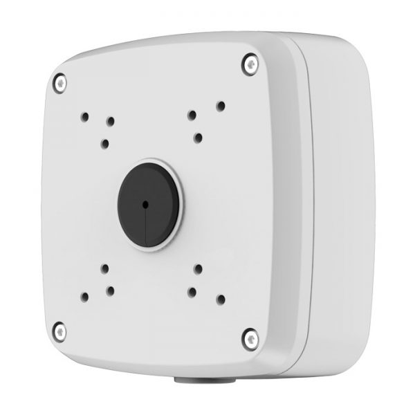 Aluminium adapter/junction box used as a spacer or as connector for corner & pole mounts.