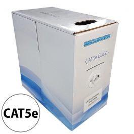 This pullbox contains 305 meters of CAT5e unshielded UTP cable in a white colouring