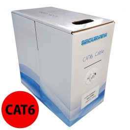 This pullbox contains 305 meters of CAT6 unshielded UTP cable in a red colouring