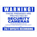 A3 sized (420 x 297) CCTV Warning Sign