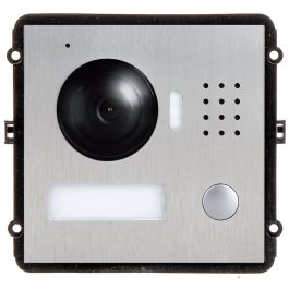 The INTIPVDSC is the master camera IP door station module for the VIP Vision Multi-Tenant Intercom Series. Up to 20x door stations and 100x indoor monitors can be installed in a single system making it ideal for small apartment blocks and multiple building dwellings.