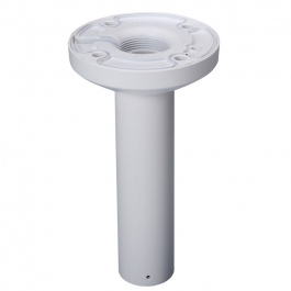 Straight pendant mount bracket for surveillance cameras. Screw-on extenders also available.