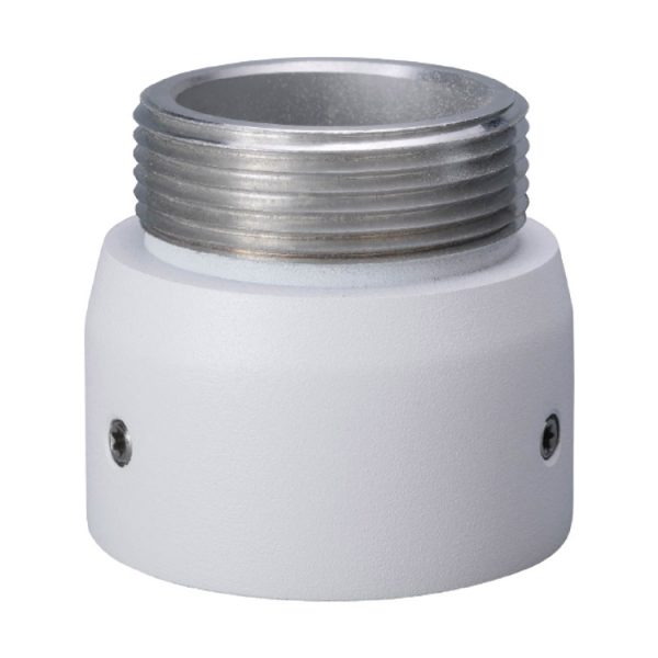Hanging aluminium connector for PTZ surveillance cameras and ceiling/wall mount brackets.